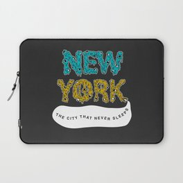 The Melted City, That Never Sleeps. Laptop Sleeve
