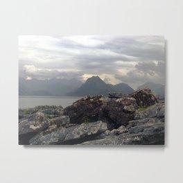 cuillin hills from elgol. Metal Print