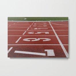 Olympics Tartan Running Track Metal Print