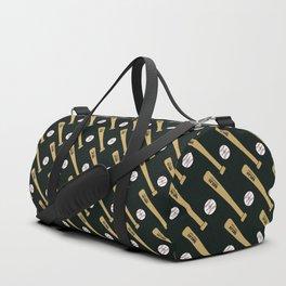 Baseball Bat and Ball Pattern (Black) Duffle Bag