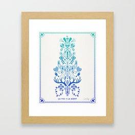 La Vie & La Mort – Blue Ombré Framed Art Print