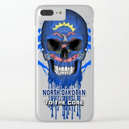 To The Core Collection: North Dakota Clear iPhone Case