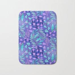 Purple flowering Bath Mat