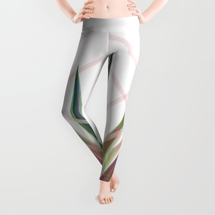 Tropical Desire - Foliage and geometry Leggings