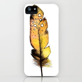 Orange Feather iPhone Case