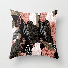 Naive Black Throw Pillow