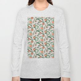 Peach and leaves Long Sleeve T-shirt