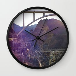 Hoover Dam Electicity Towers Wall Clock