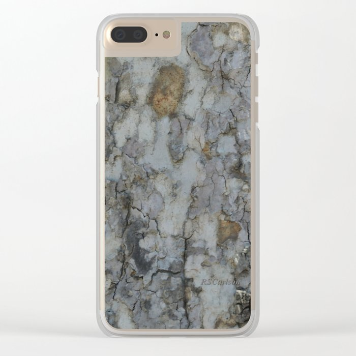 TEXTURES -- California Sycamore Bark Clear iPhone Case