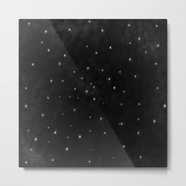Whispers in the Galaxy-B&W Metal Print