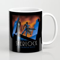 cartoon Mugs featuring Sherlock Cartoon by harebrained