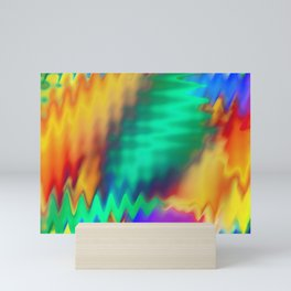 A Colorful Movement of Waves Mini Art Print