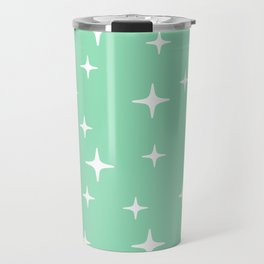 Mid Century Modern Star Pattern 443 Mint Green Travel Mug