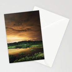 Light Polluted Lake Stationery Cards
