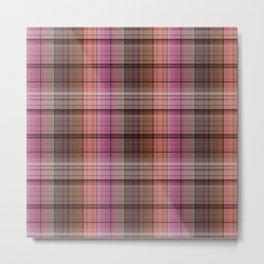 Pattern the cage 1 .  Pink , brown. Metal Print