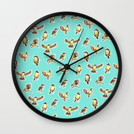 Bichofue pattern / great kiskadee illustration Wall Clock