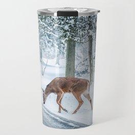 snow deer Travel Mug
