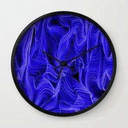 Midnight Blue Mist Wall Clock