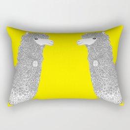 Yellow-Alpaca Rectangular Pillow
