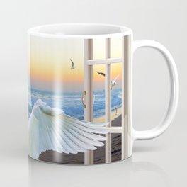 In the sunset beach c Coffee Mug
