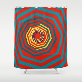 Time Warp In Red Shower Curtain