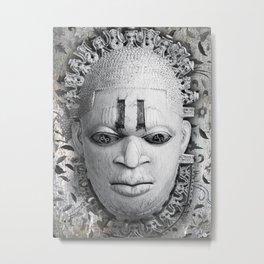 Rubino Vintage Mask Africa Metal Print
