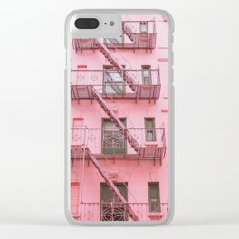 Pink Soho NYC Clear iPhone Case