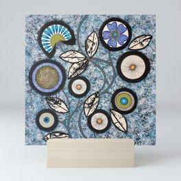 Lovely Flowers Blue Mini Art Print