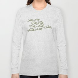 rabbits in the race Long Sleeve T-shirt