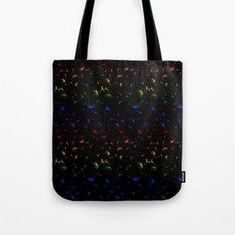 Dandelion Seeds Gay Pride (black background) Tote Bag