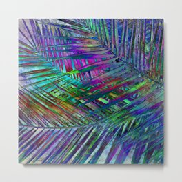 Multicolor Palm Leaves 2 Metal Print