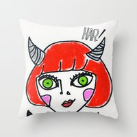 evil Throw Pillows featuring Evil by Amy Lee
