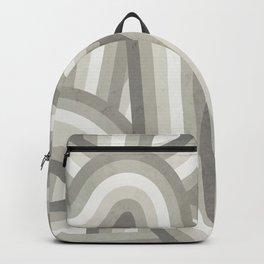 Retro Beige/Greige Stripe Pattern Backpack