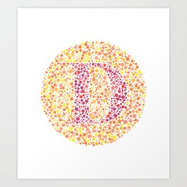 """D"" Eye Test Letter Circle Art Print"