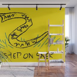 No Step on Snek Gadsden Flag Wall Mural