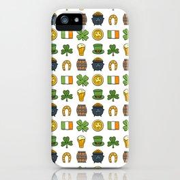 St Patricks day pattern iPhone Case