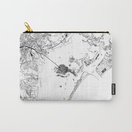 Venice White Map Carry-All Pouch