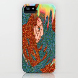 Rainbow Prince And Princess Angels iPhone Case