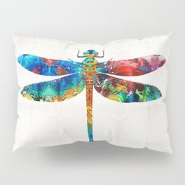Colorful Dragonfly Art By Sharon Cummings Pillow Sham