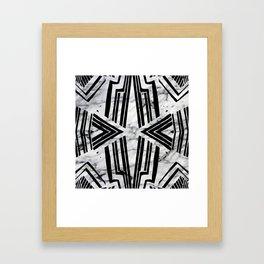 Gustas Marble Framed Art Print