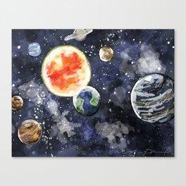 Solar system Canvas Print