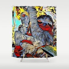 Sloth Shower Curtains | Society6