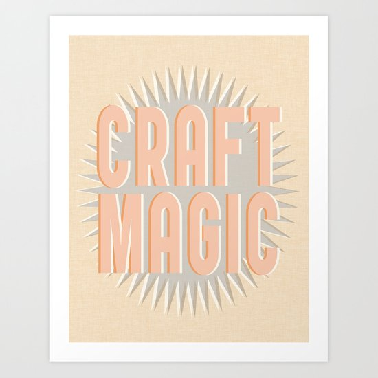 Craft Magic // Coral Art Print