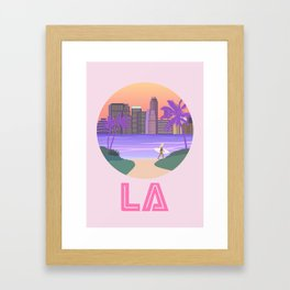Los Angeles City Art Framed Art Print
