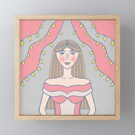 Lady Of The Hour Framed Mini Art Print