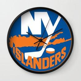 New York Islander Logo Wall Clock