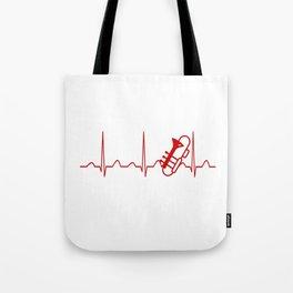 TROMBONE HEARTBEAT Tote Bag
