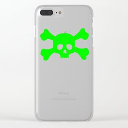Toxic Skull Clear iPhone Case