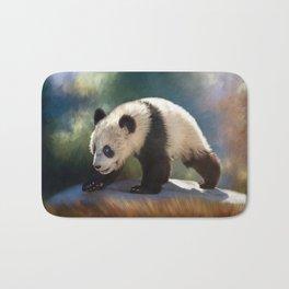 Cute panda bear baby Bath Mat