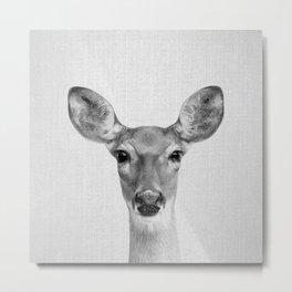Doe - Black & White Metal Print
